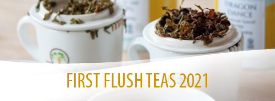 First flush teas from India and Japan and Mingqian from China, choose your destination!